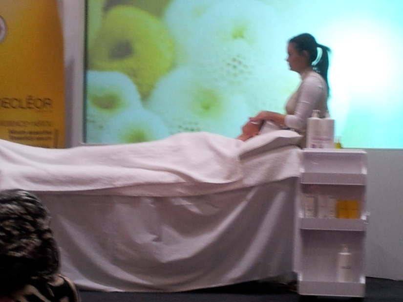 Decleor demo at Pro Beauty London