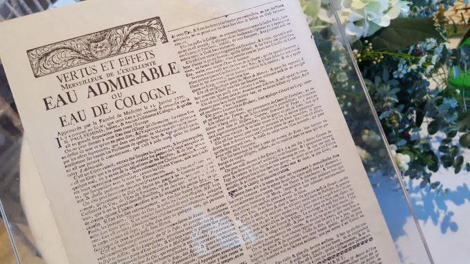 Patent of Eau de Cologne