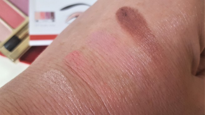 Clarins Rosy Palette swatched